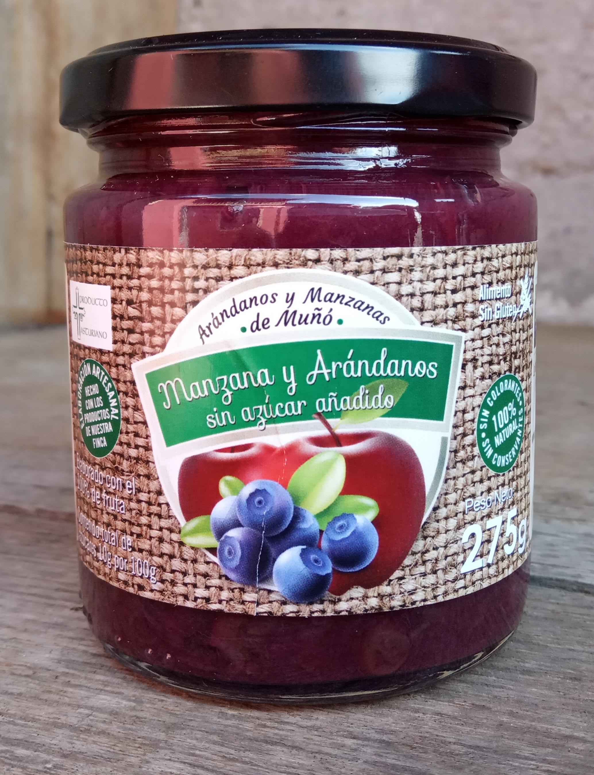 Mermelada de Manzana y Arándanos (sin azúcares añadidos)